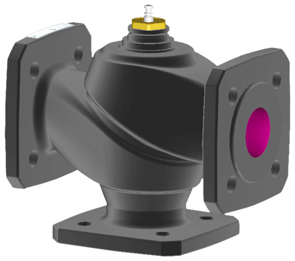 2-way flanged valve, PN 6 (el.)