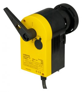 High-speed rotary actuator with SAUTER Universal Technology (SUT) for ball valve
